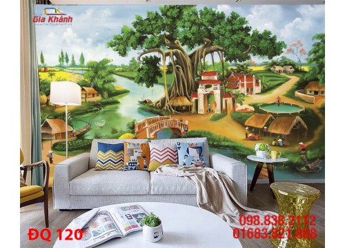 Tranh Đồng Quê DQ120