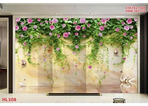 Tranh Hoa Lá HL308