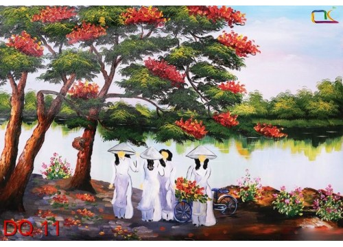 Tranh Đồng Quê DQ11