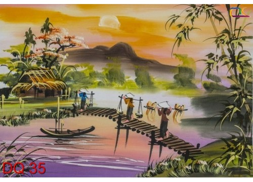 Tranh Đồng Quê DQ35