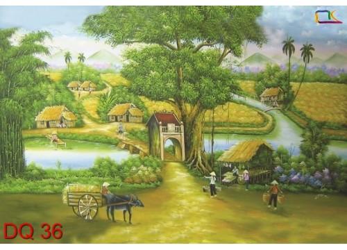 Tranh Đồng Quê DQ36